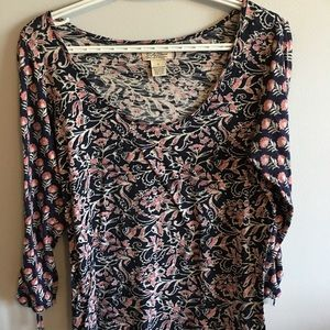 Lucky brand women's floral blouse